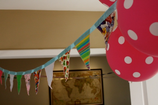 Birthday bunting for my sweet girl.